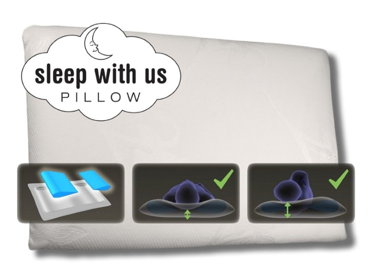 sleep with us pillow